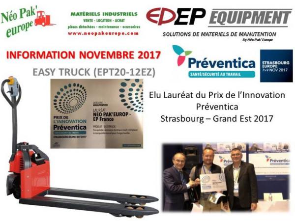 EASY TRUCK PRIX INNOVATION PREVENTICA 2017