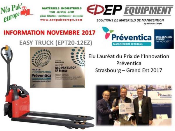 EASY TRUCK PRIX INNOVATION PREVENTICA 2017